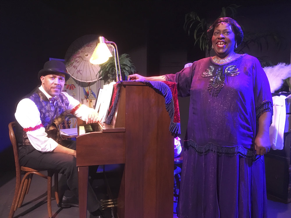 Huron Breaux and Karla Burns in Hi-Hat Hattie