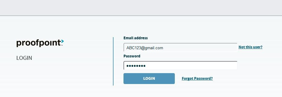 Enter your Proofpoint Password