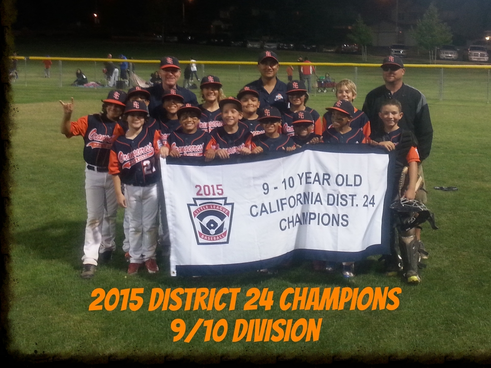 2015 District 24 Champions - 9/10