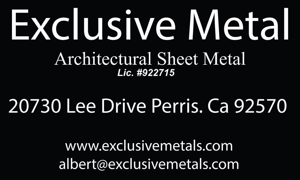 Exclusive Metals - We are a company specializing in architectural sheet metal. We install standing seam roofs, metal siding, gutter and downspouts, expansion joints, composite panels, skylights, and more.www.exclusivemetals.com