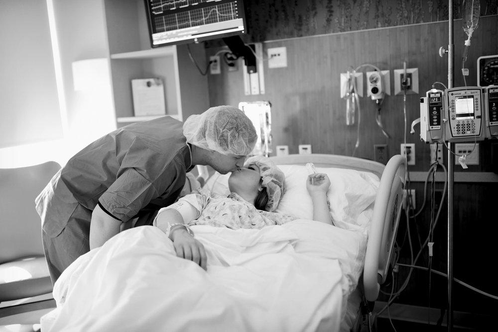 sweet kiss at St. Joseph hospital in Denver colorado