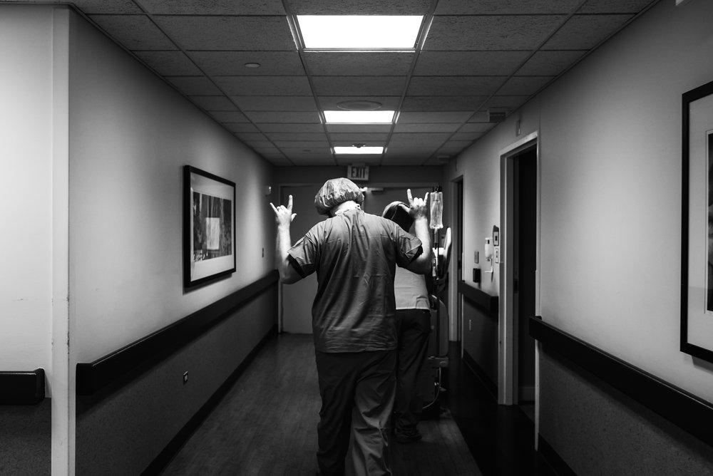 walking into a c-section at St. Luke medical center, Denver colorado