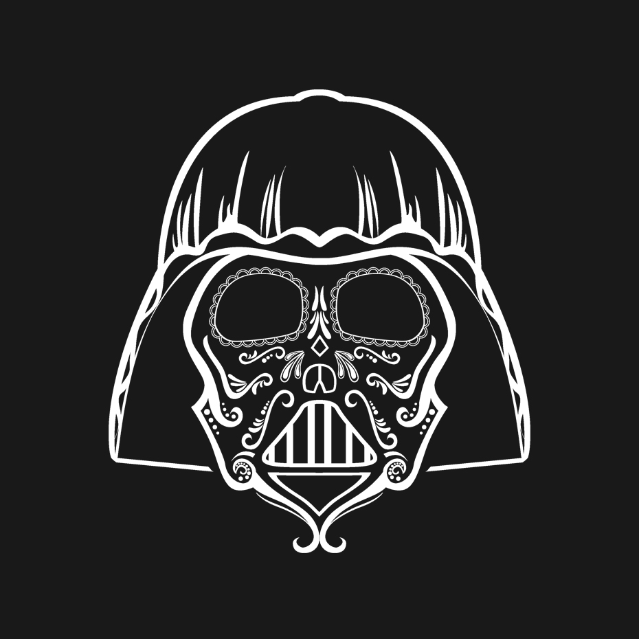 Dia de Darth T-Shirt Design for -  Teepublic