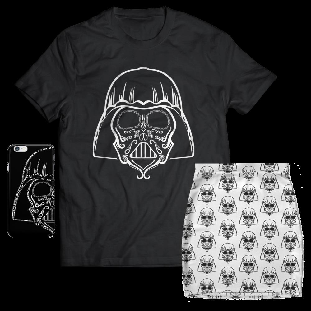 Darth Vader Sugar Skull T-shirt design Jlane Design Teepublic Redbubble