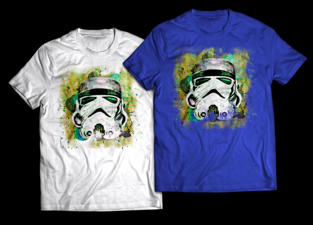Stormtrooper Abstract painting T-shirt Design Jlane Design Teepublic