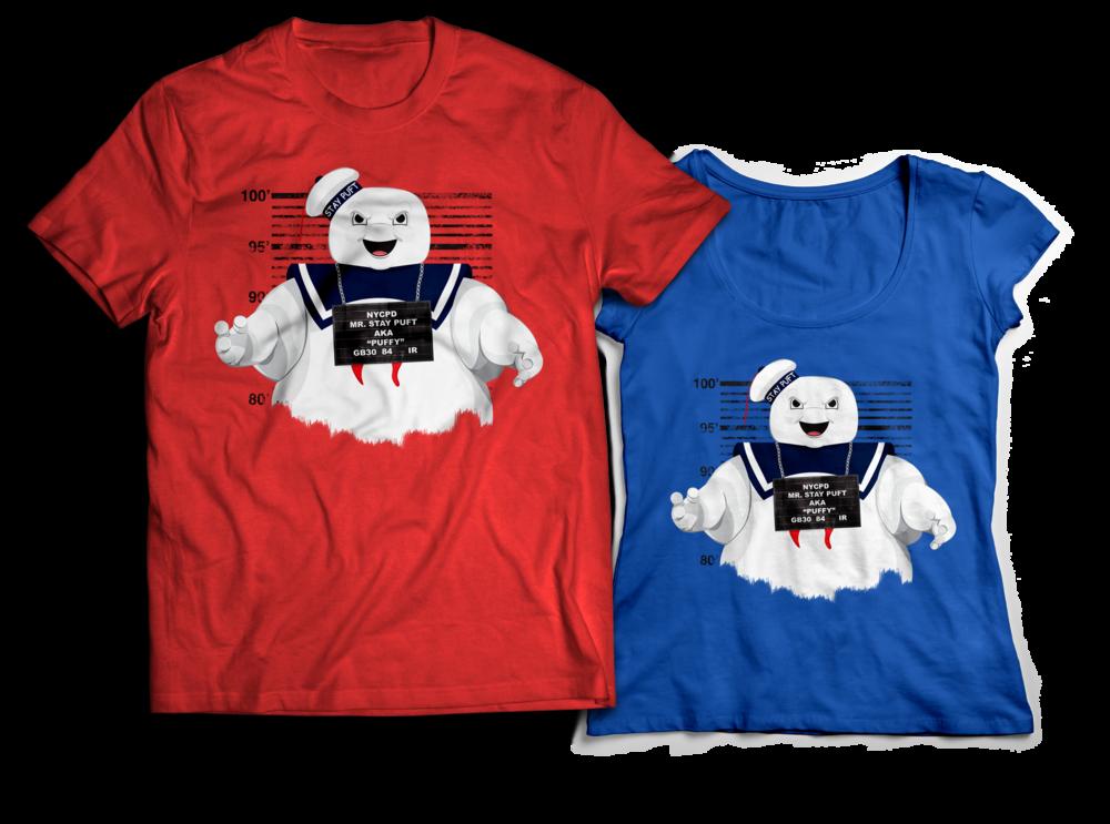 Ghostbusters Stay Puft Marshmallow Man T-shirt Design Jlane Design Teepublic