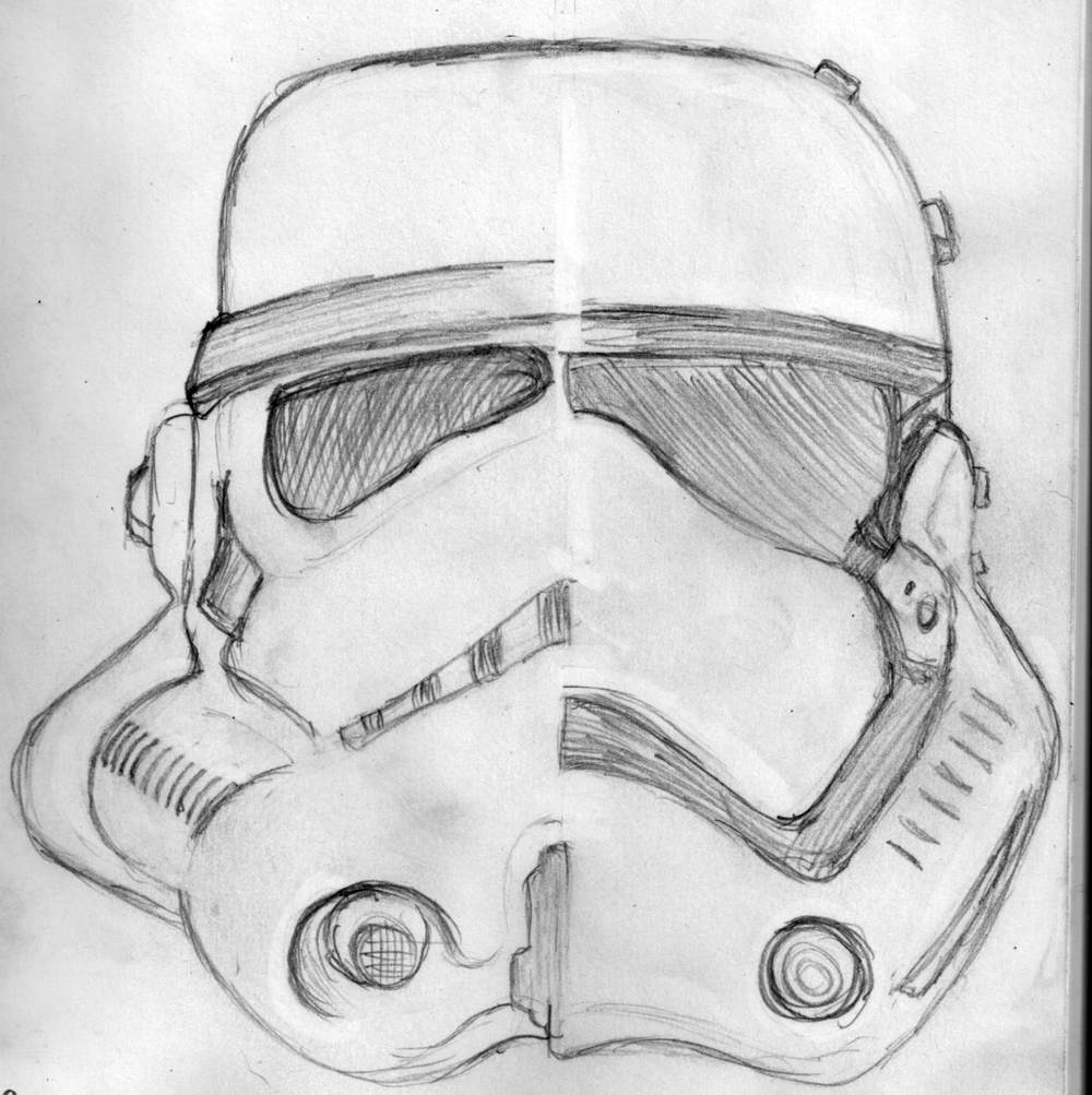 Stormtrooper New and Old Sketch Jlane Design