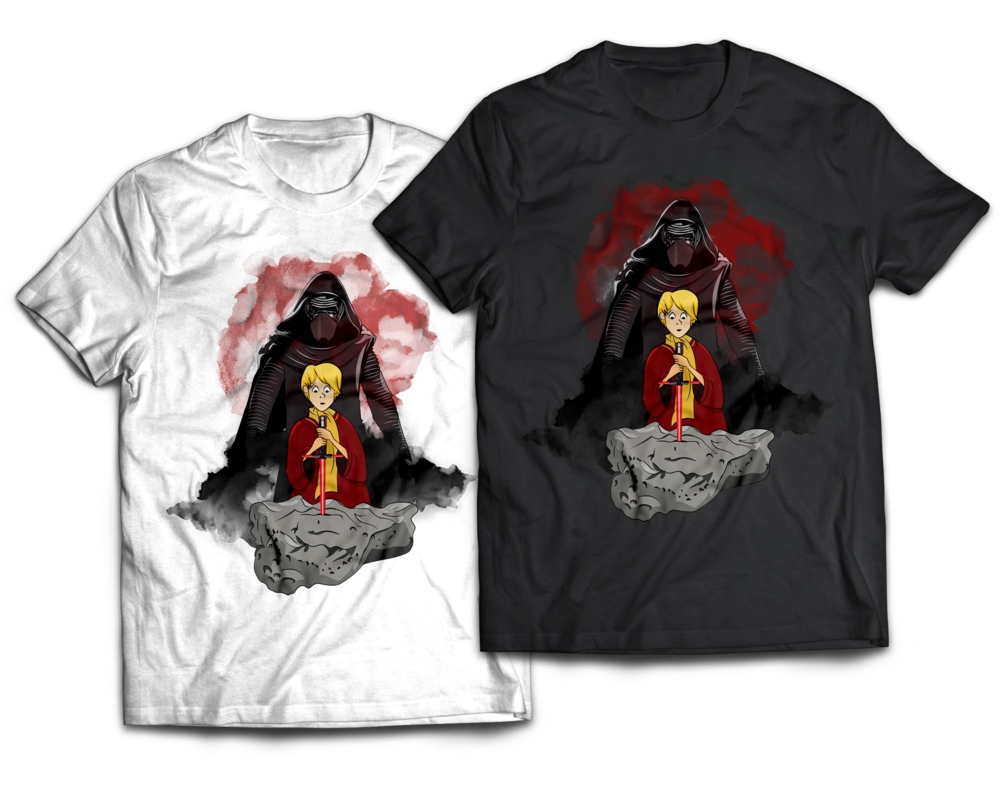 Kylo Ren Sword in the Stone Mashup T-shirt design Jlane Design Teepublic