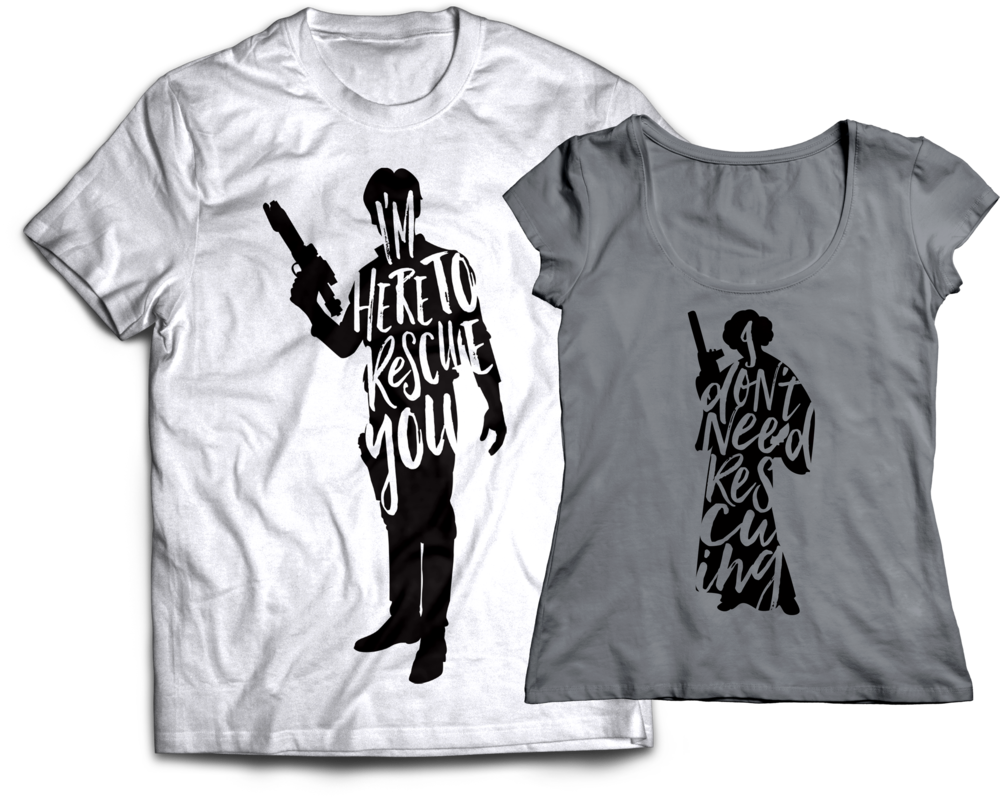 Han Solo and Princess Leia Rescue T-Shirts Jlane Design teepublic