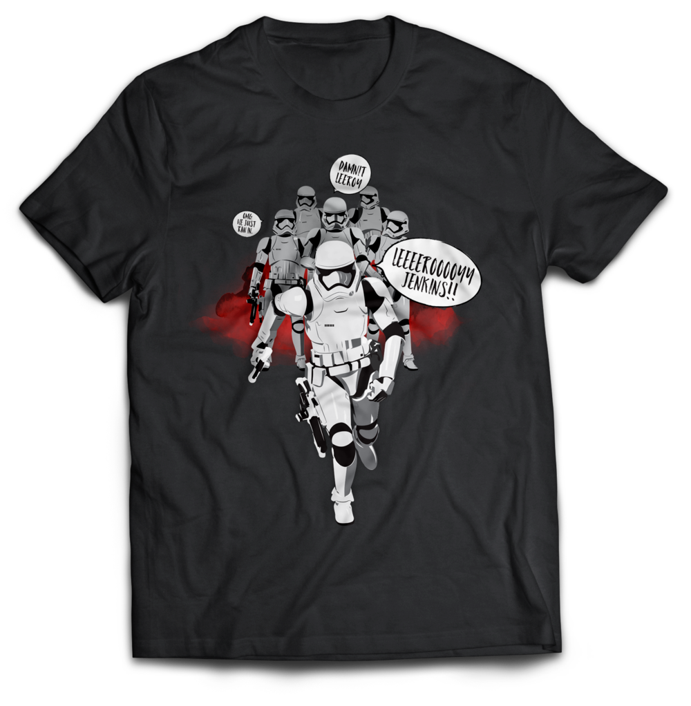 Stormtrooper Jenkins Star Wars world of warcraft T-Shirt Jlane Design Teepublic