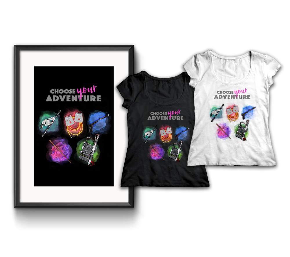 Choose Your Adventure Fangirl Design prints T-Shirts Jlane Design Teepublic