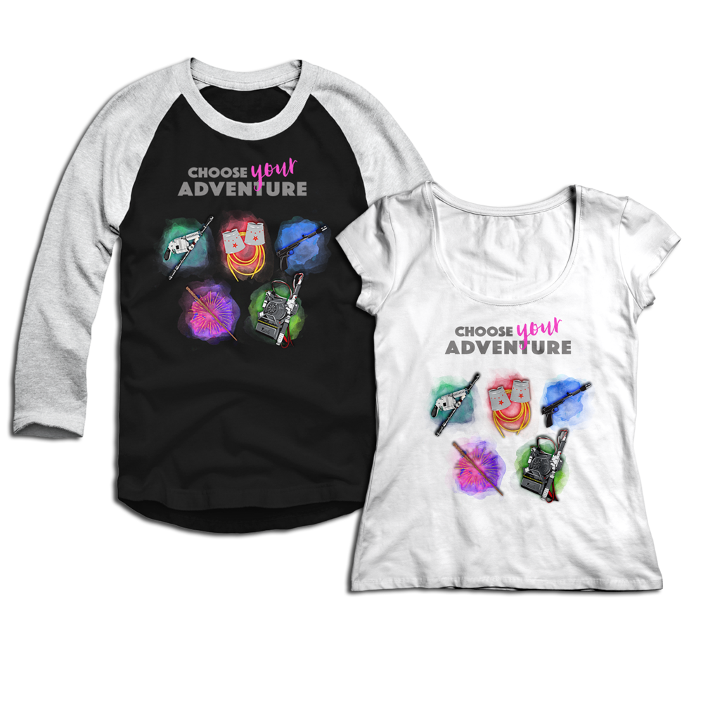 Choose Your Adventure Baseball Tee and T-Shirt available on Teepublic