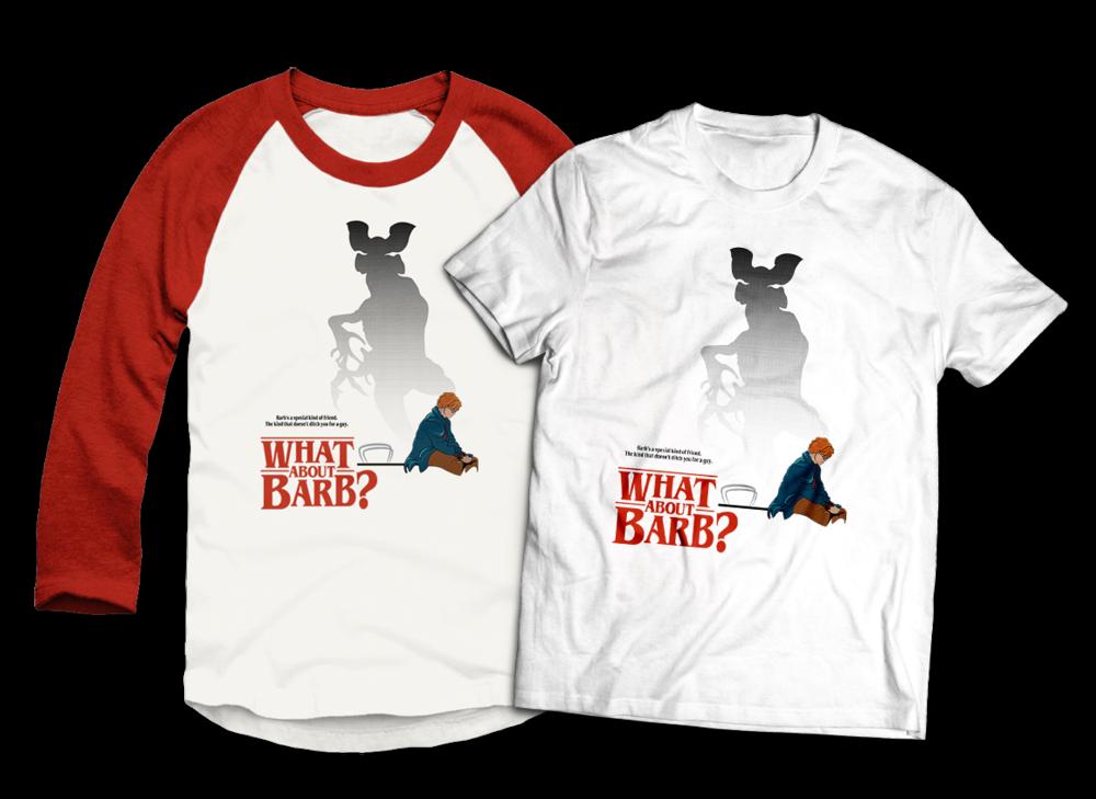 What About Barb Baseball Tee and T-Shirt Design Teepublic JLane Design