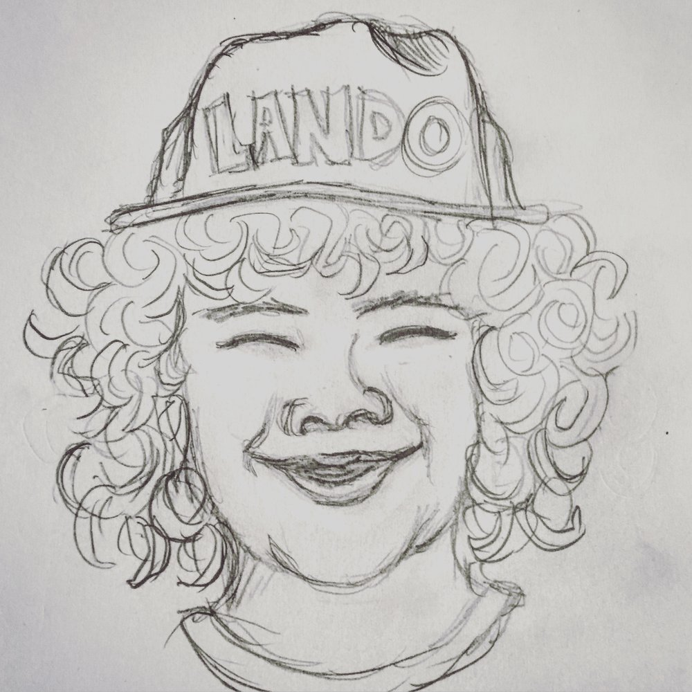 Dustin Stranger Things Lando Sketch JLane Design