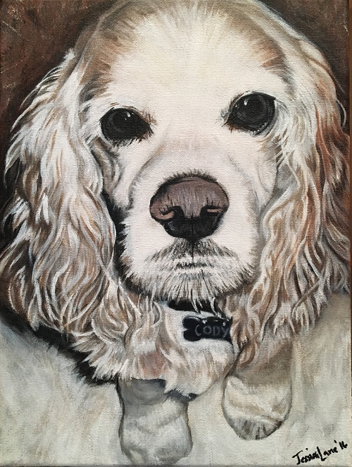 "Cody - 11"" x 14"" Acrylic on Canvas  Commission Piece for personal client. SOLD - 2016"