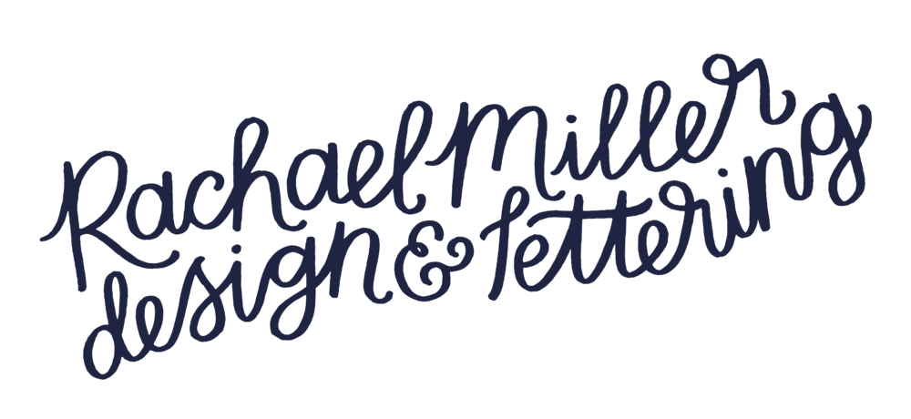 design & lettering work of rachael miller