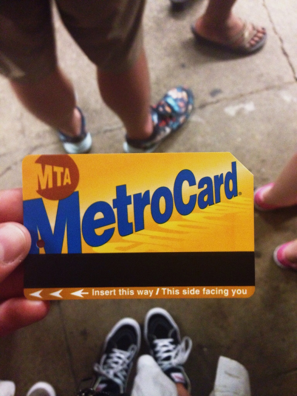 This was my subway card. These things are GOLD.