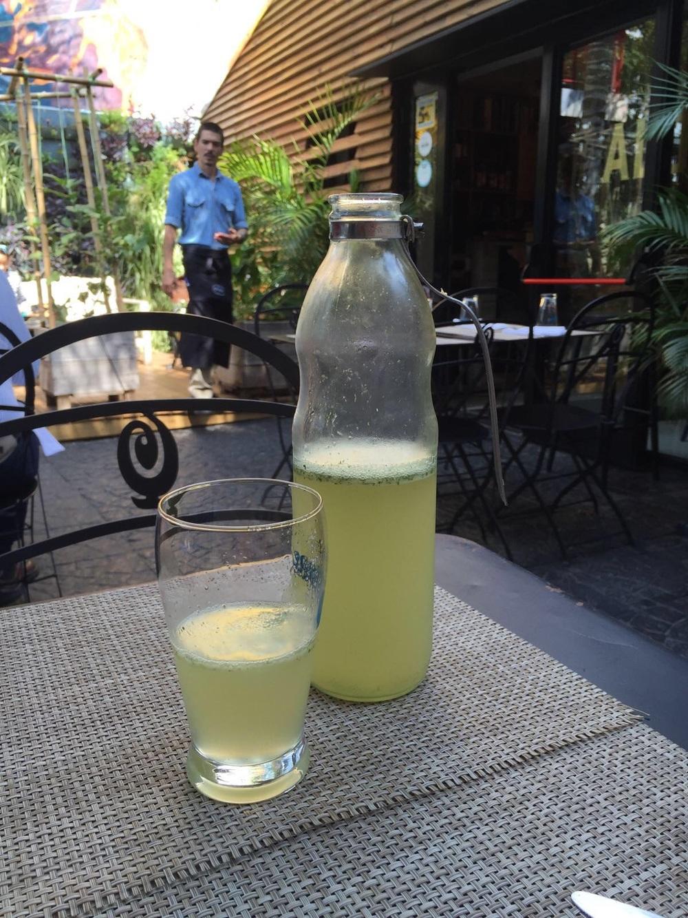 Ginger Mint Lemonade at Alo's in San Isidro.