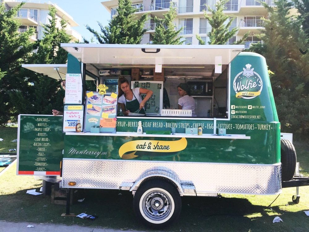 Post-race food consisted of a fleet of food trucks, like this one modeled after an American diner.