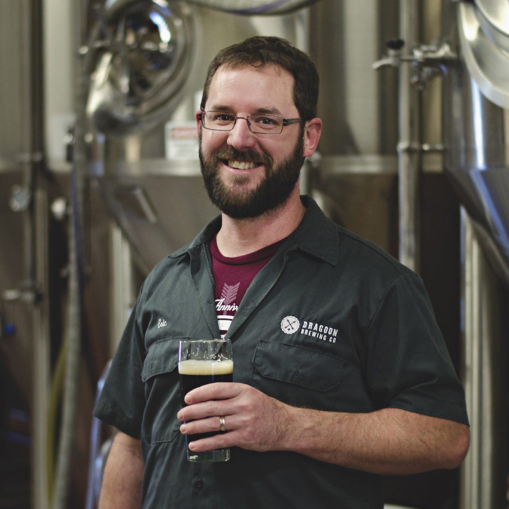 ERIC GREENE   FOUNDER / HEAD BREWER   Eric is responsible for defining our recipes and processes. He loves fixing whatever just broke, and mopping the floor late at night.