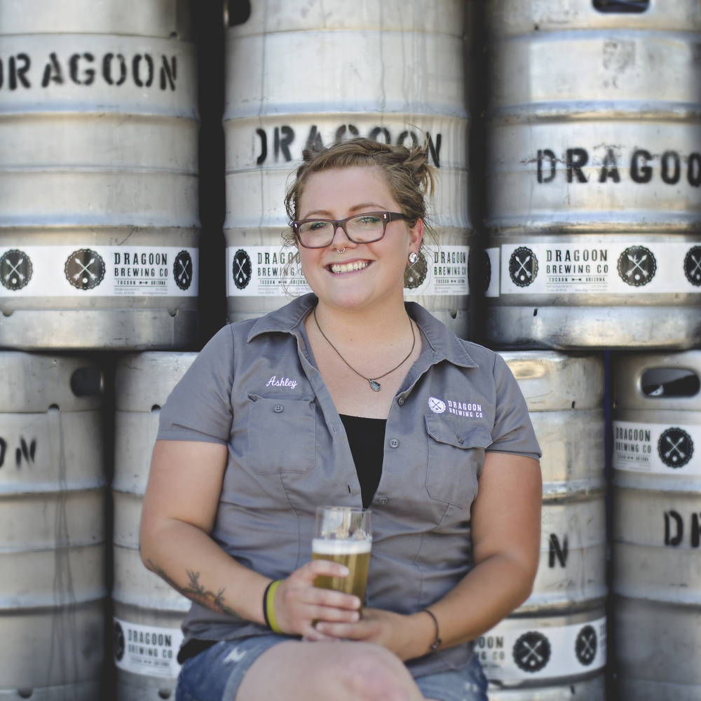 ASHLEY AZZONE CELLARMAN From brites to barrels, brinks to blending tanks, Ashley runs our cellar. Whether it's filtering beer, harvesting yeast, or racking barrels, you can find her in the back lending a helping hand.