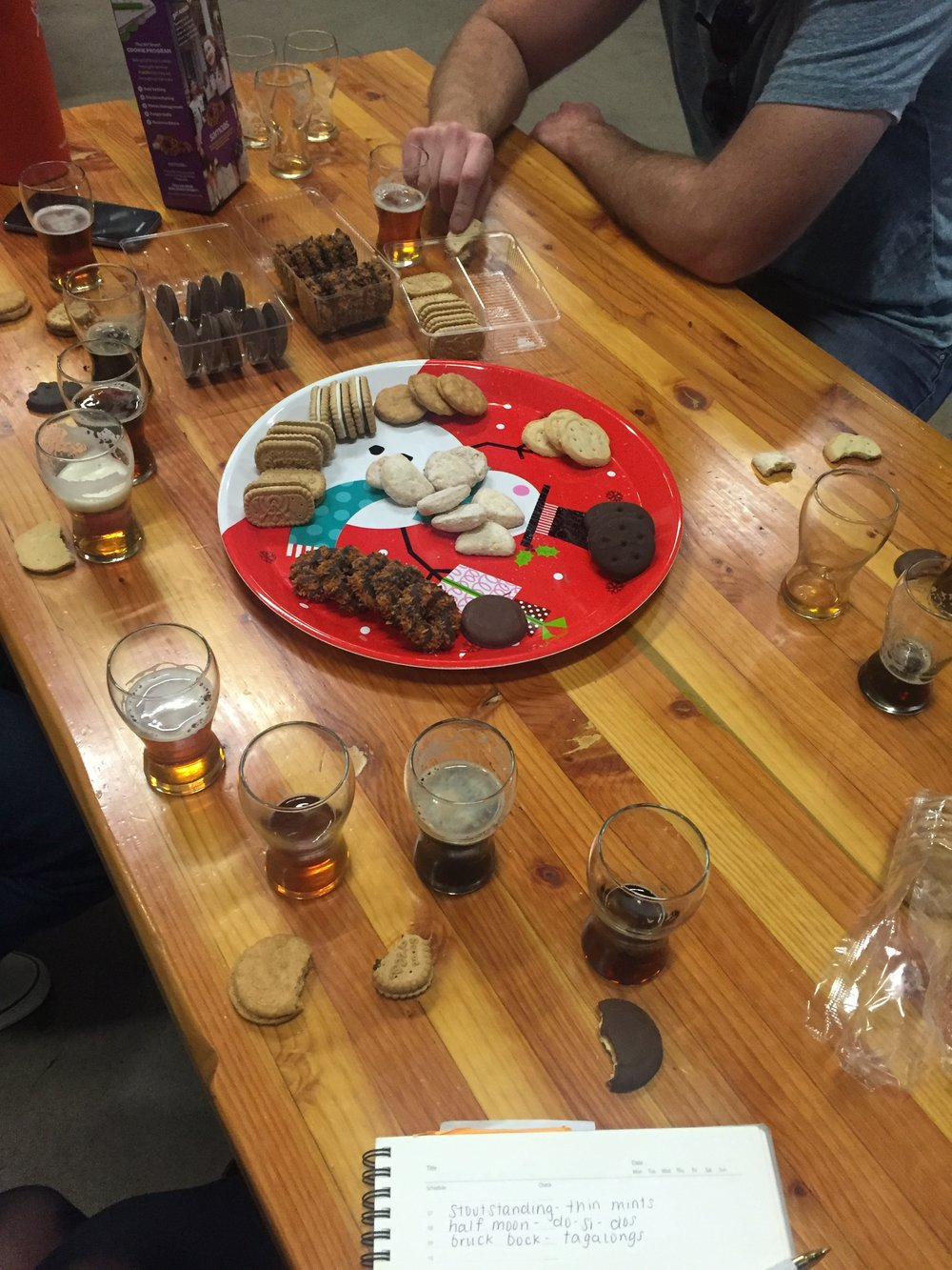 Serious business meetings involve beer AND cookies.