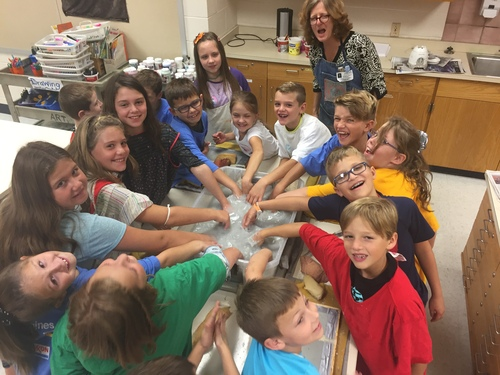 3rd grade loved papermaking