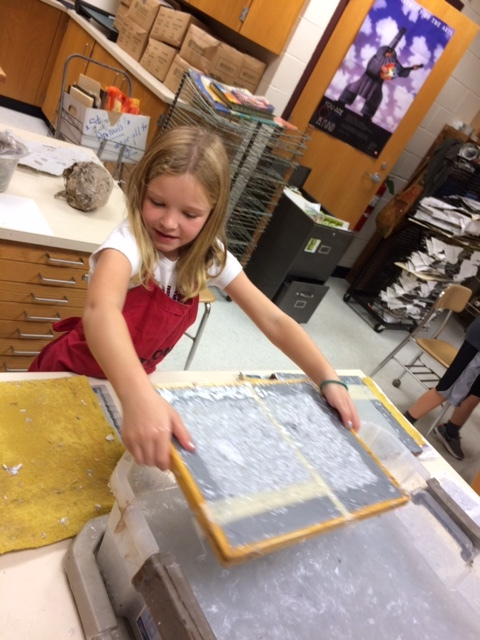 Students learned papermaking processes and watersystems too