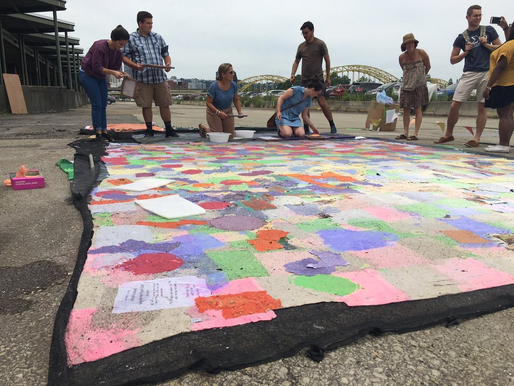 making the world's largest handmadepaper quilt.JPG