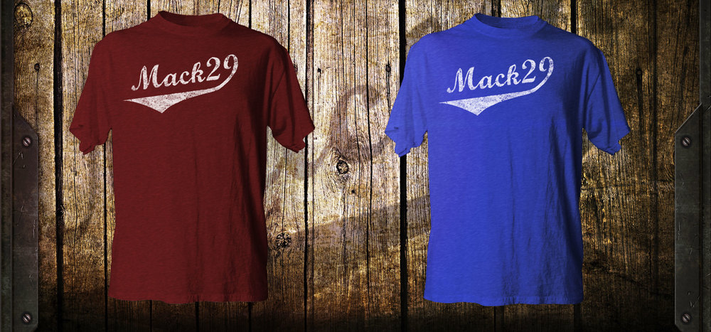 The Mack29 shirt using the epic LAT shirts that we used for the#AvsFam shirts. The print will have distressed ink and awesome all over it.
