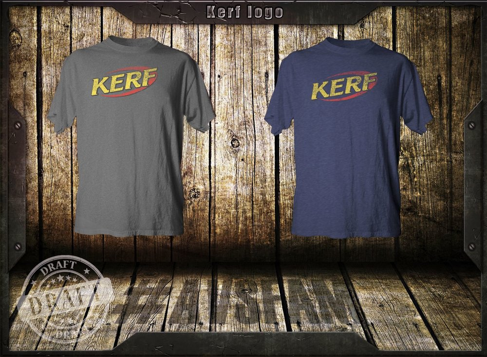 Based on the old NERF logo, we present our favorite so far, the KERF!