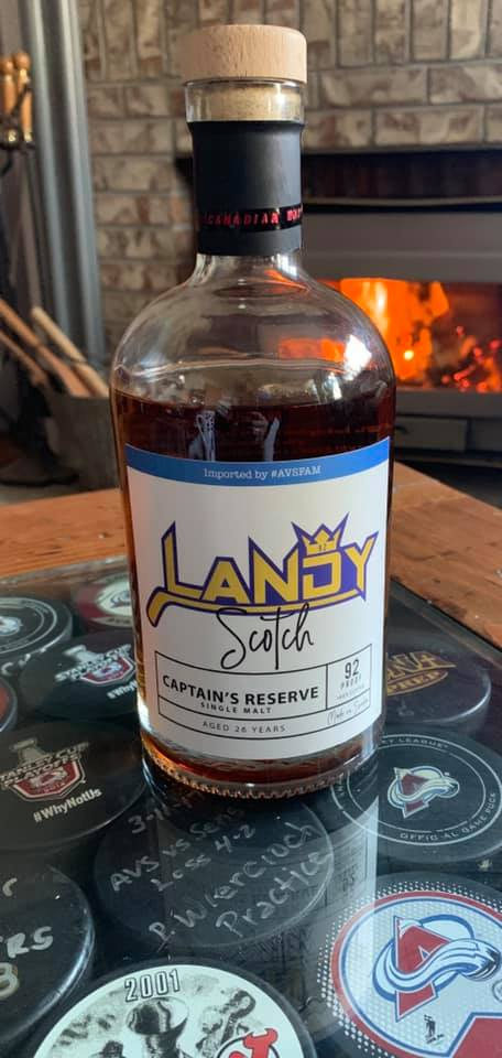 LandyScotch! - @HockeykatKate did some seriously impressive arts and crafts work to produce this Landy Scotch.