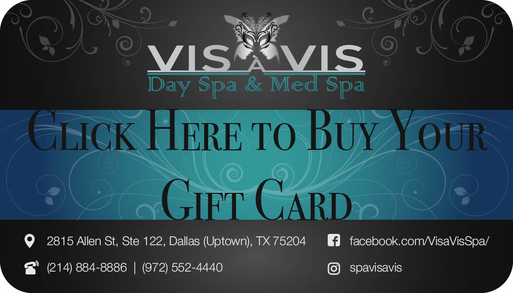 Treat your loved ones with a Vis à Vis Spa Gift Card to use towards our pampering services. Whether they want to wipe all this year's stress with a relaxing massage, help them obtain a healthier and youthful face, or just melt away some unwanted fat to be ready for the summer, our Day Spa has it all and constantly adding more!  Our gift cards will certainly accomplish their beauty goals and help them mix and match what they need to look and feel good!