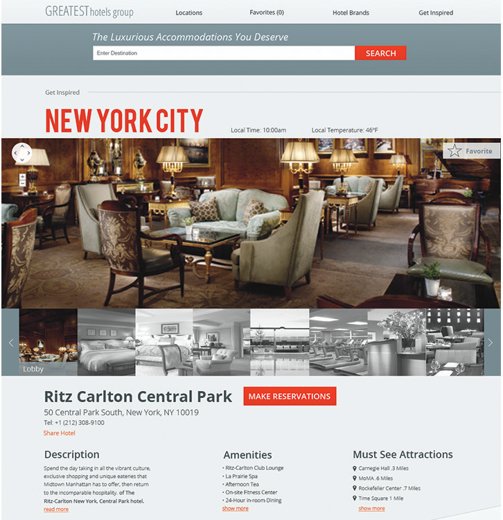 UI/UX Greatest HotelsWebsite