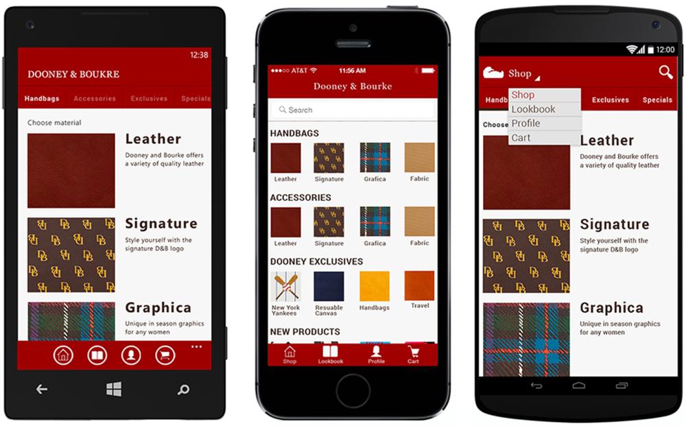 UI/UX Dooney & Bouke App