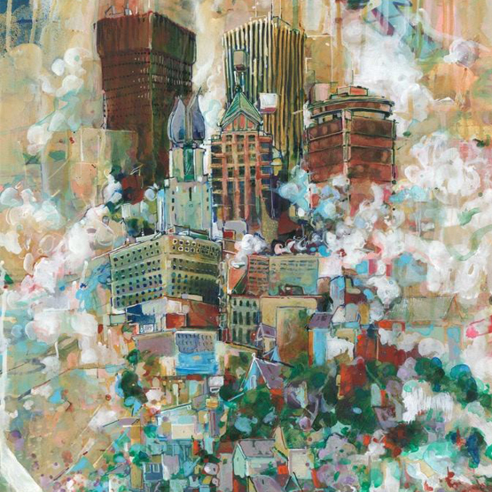 Floating Landscape (Rochester) by  Nate Hodge