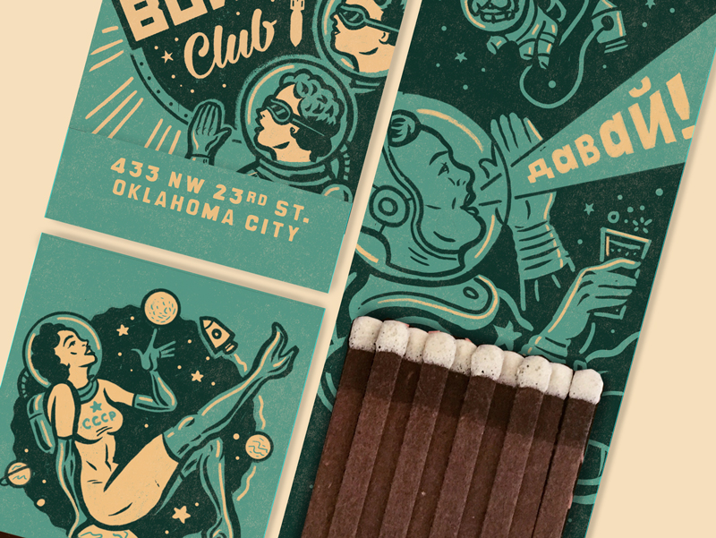ISSUE 2 - BUNKER CLUB MATCH BOOK ART