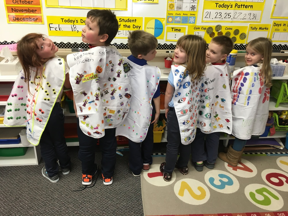 OLL Marks 100 Days of School!