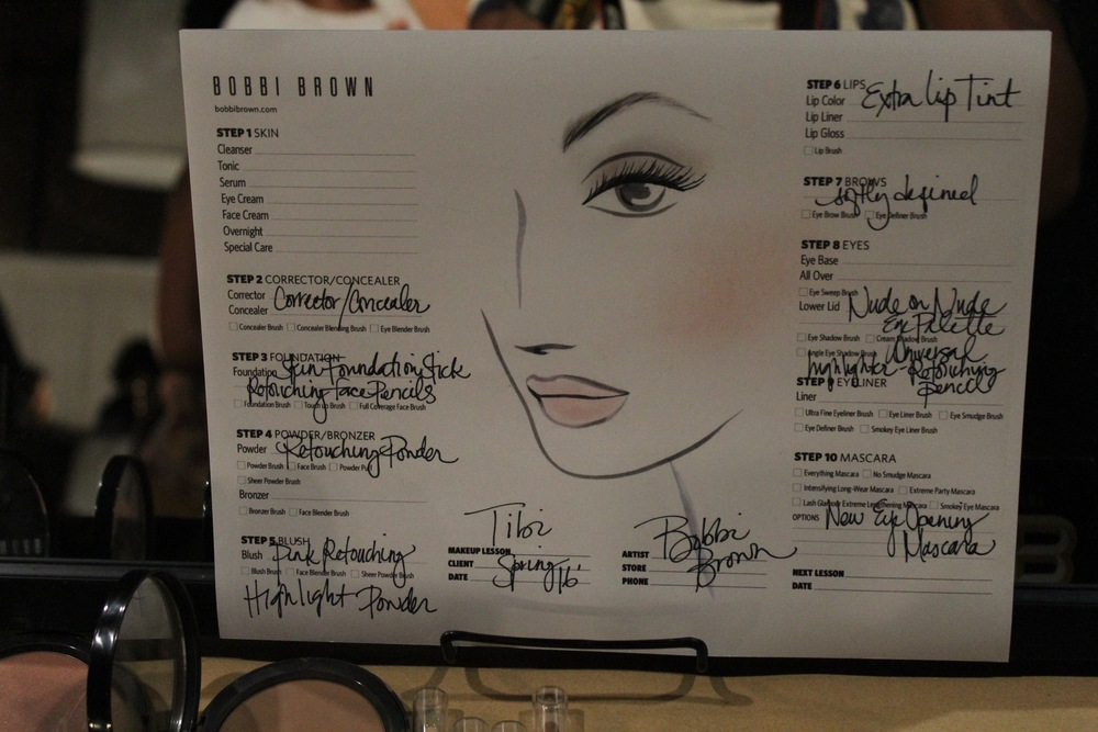 Bobbi Brown cosmetics sets the tone with this neutral palette backstage at Tibi.
