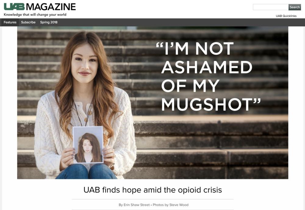 """UAB Magazine - """"I'm Not Ashamed of My Mugshot"""""""