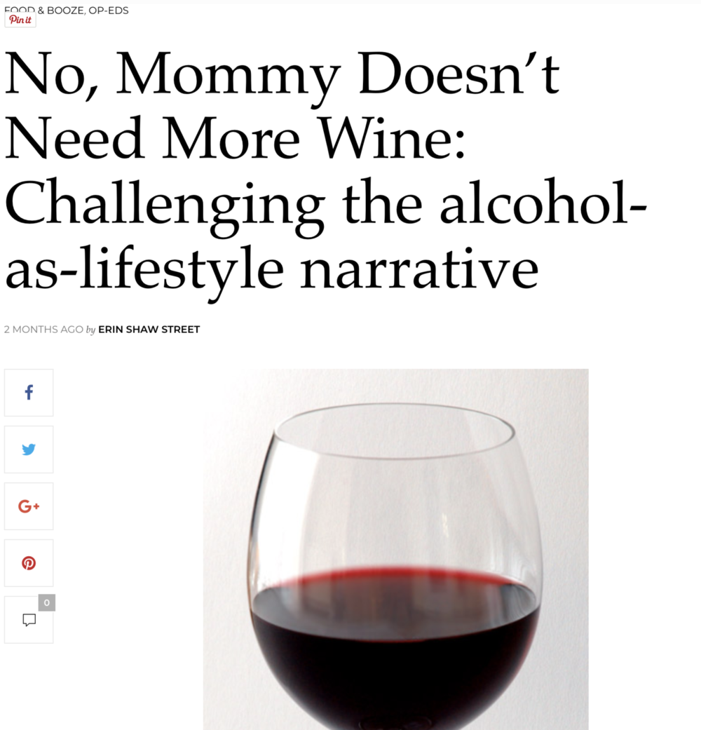 No, Mommy Doesn't Need More Wine.