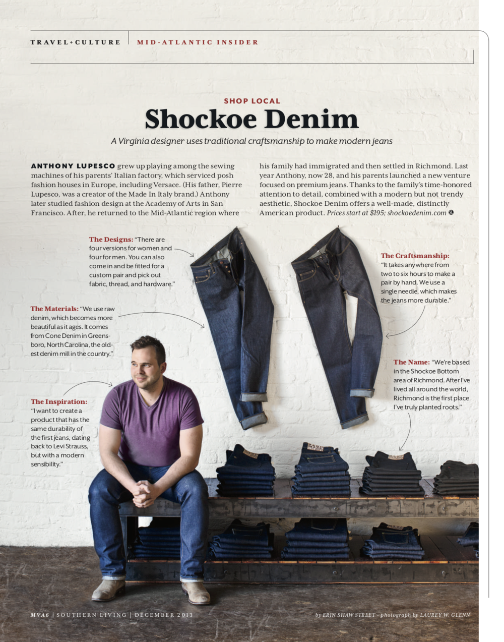 Southern Living: Shockoe Denim