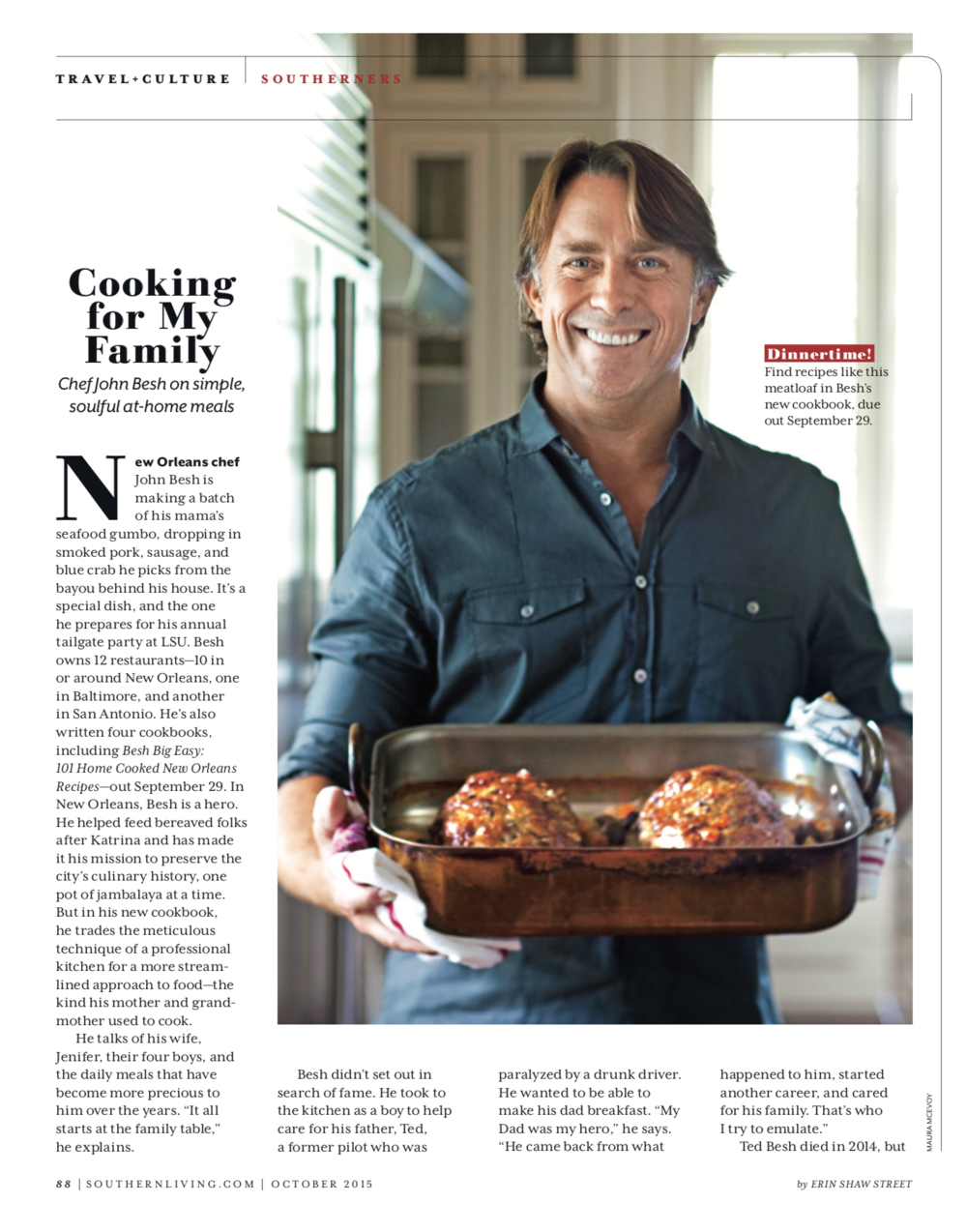 "John Besh - ""Cooking For My Family"""