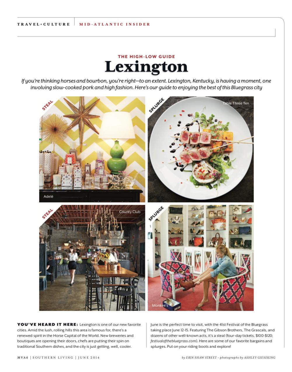The High-Low Guide: Lexington