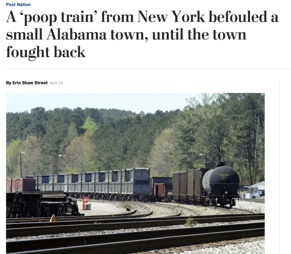 Washington Post - Poop Train
