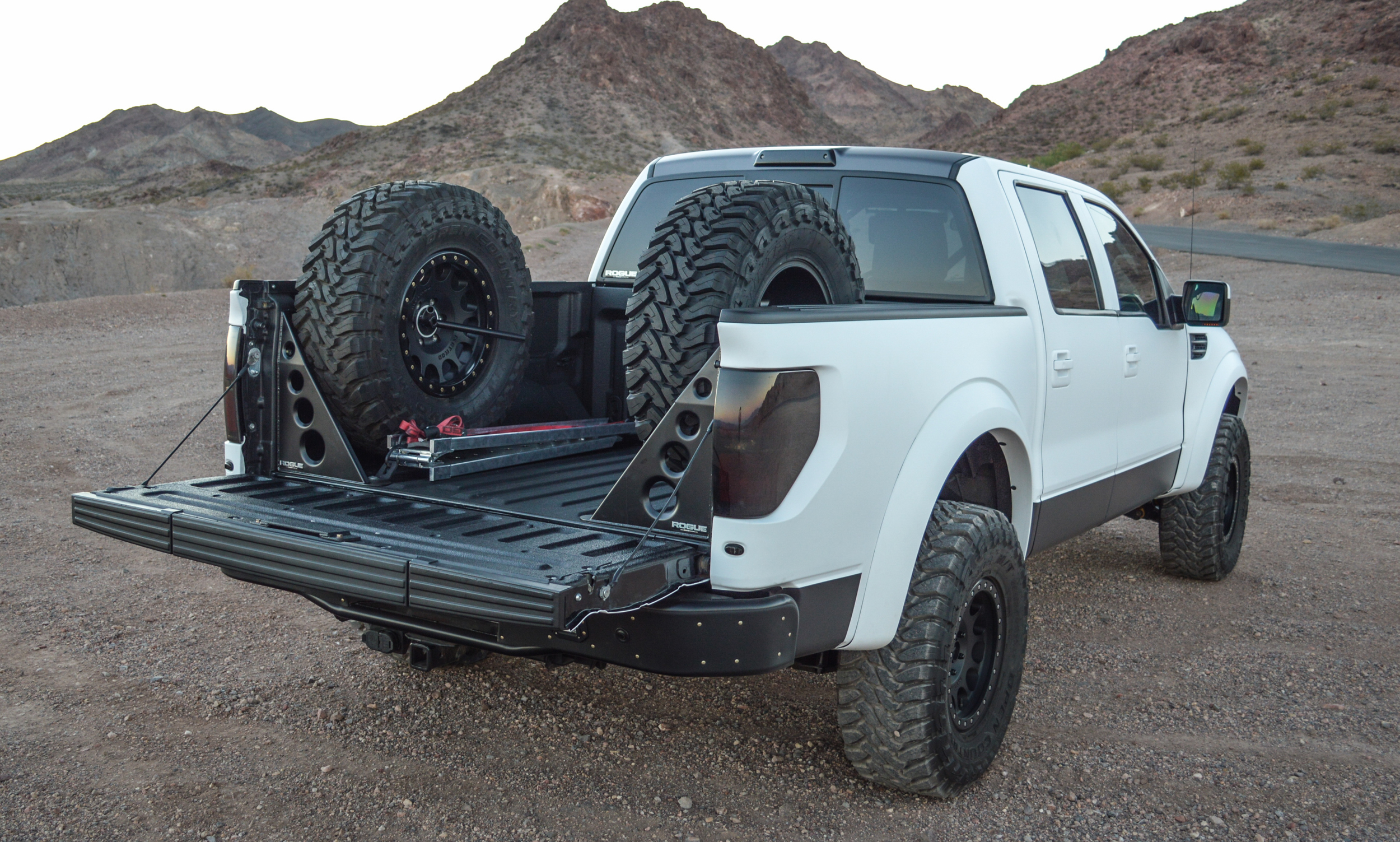 Image result for ford raptor spare in bed