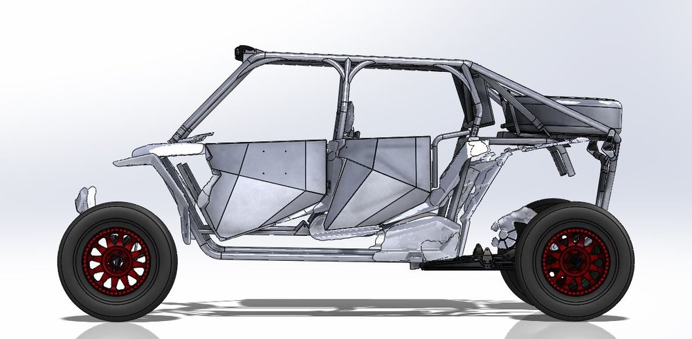 Feature :  Rogue Racings'  UTV release. Cage, Doors & Suspension Setup.    Suspension:  OEM Width and Long Travel