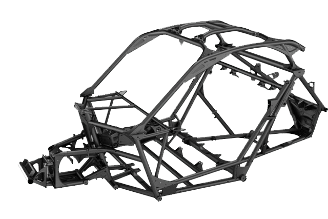 The Can-Am Maverick X3 frame in detail. This is the strongest OEM frame in the UTV industry.