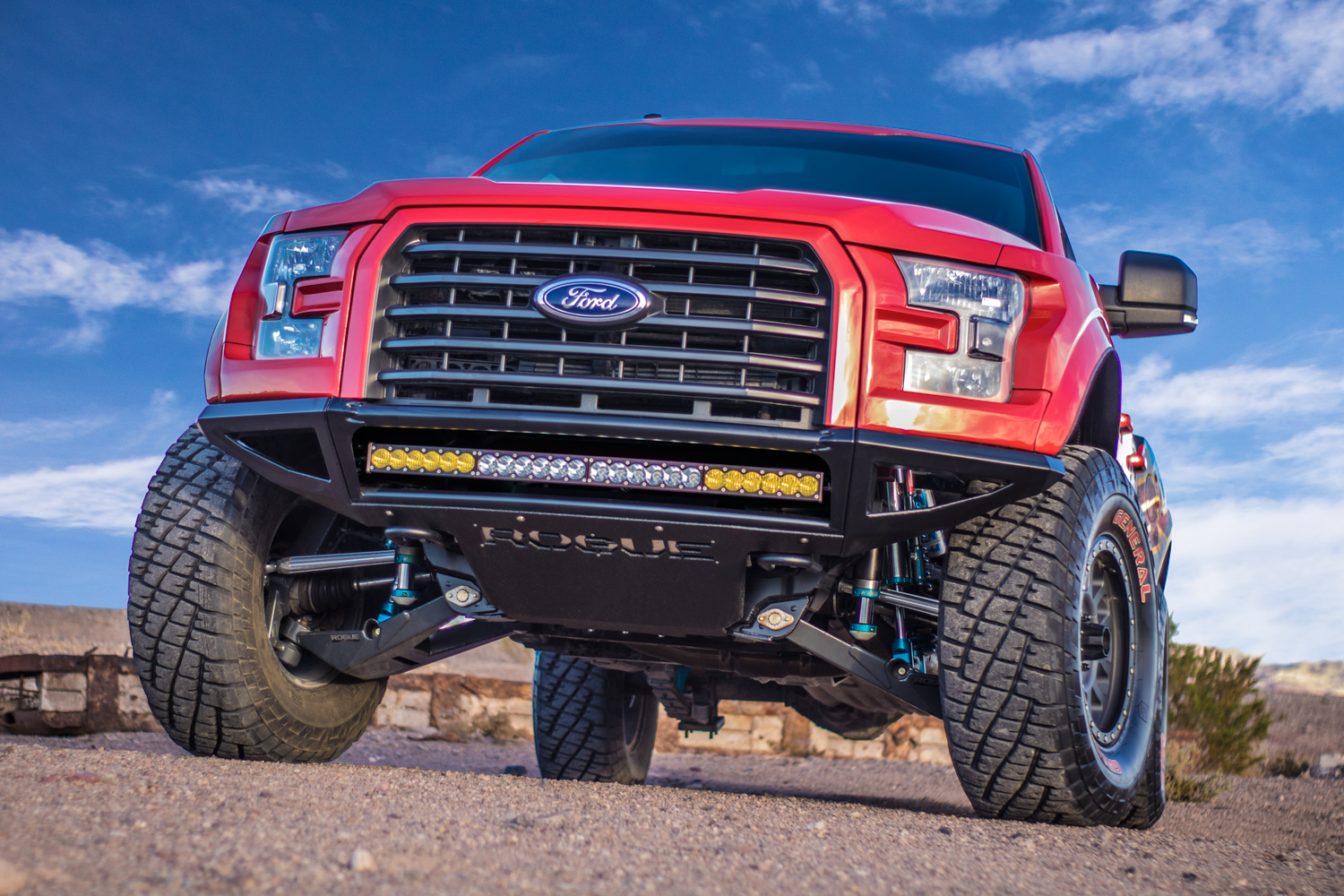 Off Road Bumpers F150 >> Enforcer Frame Horn Chop Front Bumper 2015 Ford F 150 Rogue Racing