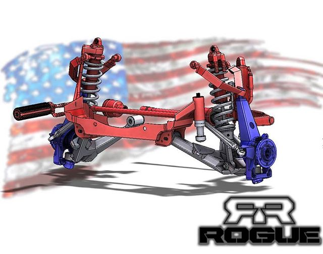 Happy Memorial Day weekend.  Here's our upcoming OEM replacement suspension system for the Gen 2 Raptor. New LCAs with integrated  bump stop strike plates and OEM sway bar provision, weld in crossmember reinforcement with integrated bump stop kit, slot delete alignment kit, Gen 2 OEM replacement spindles with double sheer HD tie rods and heim UCAs. Combined with either King or Fox OEM replacement shock package.  #RogueRacing #GoRogue #Raptor #Ford #FordRaptor #Gen2Raptor #2017Raptor  #KingShocks #MidTravel